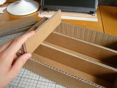 Cardboard Component Storage : 7 Steps (with Pictures) - Instructables Cardboard Organizer, Cardboard Storage, Fabric Storage Boxes, Art Storage, Cardboard Crafts, Paper Crafts, Christmas Ornament Storage, Christmas Decor, Christmas Ideas