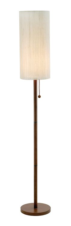 Hamptons Walnut Floor Lamp