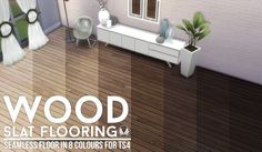 My Sims 4 Blog: Wood Slat Wallpaper and Floors by Peacemaker ic