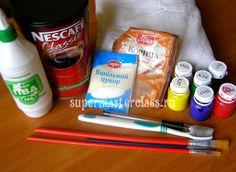 Материалы и инструменты для кофейной игрушки свинки