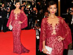 Sonia Rolland In Zuhair Murad - 'Timbuktu' Cannes Film Festival Premiere. Re-tweet and favorite it here: https://twitter.com/MyFashBlog/status/467363403057487872/photo/1