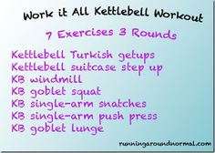 Full Body Strength Workout with Kettlebells High Intensity Cardio Workouts, Full Body Strength Workout, Kettlebell Routines, Fitness Tips, Health Fitness, At Home Workouts, Quick Workouts, Daily Workouts, Printable Workouts