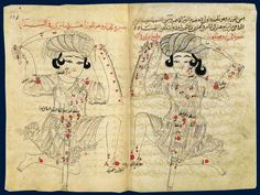 Arabic depiction of Orion, as seen from Earth