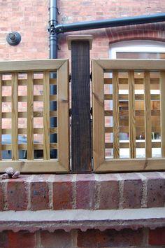 lattice on top of brick fence | Edwardian House Project