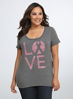Breast Cancer Awareness Collection Love V-Neck Tee,