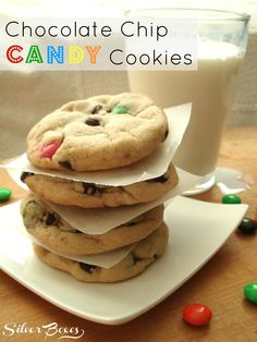 Chocolate Chip Candy Cookies