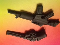 Fondant Semi Automatic Rifle or Pistol Cupcake by GiftsbyLaney, $30.00