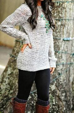 love the sweater-solid color with texture for added visual appeal. Can add color in accessories!