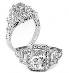 These diamond engagement rings are beautiful! I love the profile; a work of art