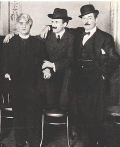 David Belasco, Arturo Toscanini and Giacomo Puccini at U.S. Premiere of La fanciulla del West (1910)