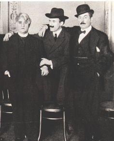 David Belasco, Arturo Toscanini and Giacomo Puccini at U.S. Premiere of La fanciulla del West (1910)
