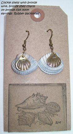 Southern OOAKS  original shell earring design.