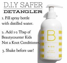 Easy way to create a safer detangler for your kiddos! Beautycounter.com/emilybrake1