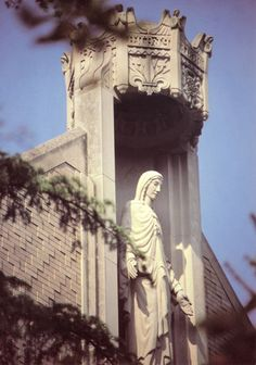 This statue at Villa Assumpta in Baltimore was created to be a material expression of the theme of the Assumption.