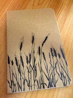 Moleskine Handstamped Kraft Note Book  Handstamped by aunaturelle, $14.00