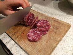 Salame Brianza #Vismara Butcher Block Cutting Board, Ham, Food, Italy, Essen, Hams, Yemek, Meals
