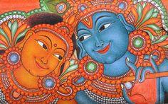 Radha e Krishna, mural painting
