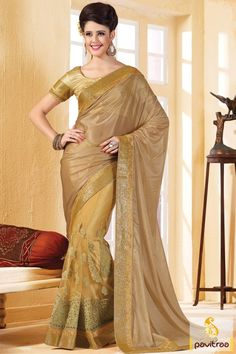 Take the style with most gorgeous look by attiring brown and golden net party saree with festival deal. It is graceful with golden border. Purchase it online!!  #saree, #sarees, #partywearsaree, #designersaree, #onlinesaree, #partysaree, #festivalsaree, #occasionsaree, #womenfashionsaree, #embroiderysaree, #pavitraa, #pavitraafashion http://www.pavitraa.in/store/party-wear-saree/ Call Us : 917698234040