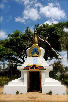 Tibetan Buddhist Stupa at the Dharma Center in Paia, Maui.