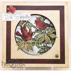 Heartfelt Creations - Cardinal Sympathy Card Project