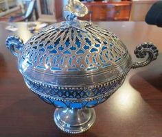 Antique Pairpoint Glass | Antique Edward Pairpoint Silver Plate Lidded Candy ... | Antiques I A ...