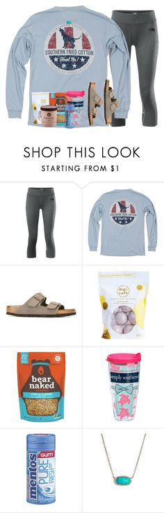 """""""I guess my friends can't stay up for night4"""" by livnewell ❤ liked on Polyvore featuring The North Face, Howlin', Birkenstock, Me! Bath, Tervis and Kendra Scott"""