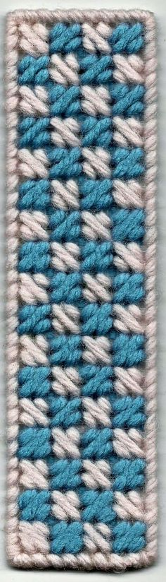 Bookmark made using the Mosiac Stitch. Size is 10 threads by 36 threads (9 holes x 35 holes) using 7 count clear plastic canvas. I u...