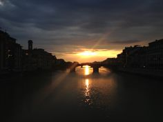 Amazing Sunsets at the Ponte Vecchio Amazing Sunsets, Europe, Celestial, Travel, Outdoor, Outdoors, Viajes, Destinations, Traveling