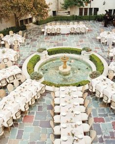 Blog OMG - I'm Engaged! - Casamento em torno de um chafariz. Wedding decoration.