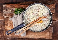 Kapros, sonkás spagetti Spagetti, I Foods, Food Photography, Blog, Blogging