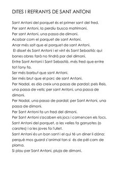 Dites de sant Antoni