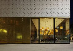 Cukrowicz Nachbaur Architekten, Vorarlberg Museum, Bregenz, Österreich, 2013, Foto Hanspeter Schiess, Außenansicht, Fenster, Cafe