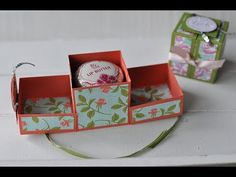 "Tutorial: Box ""Deluxe"" für Lip Butter mit Material von Stampin' Up! Stampin Up Anleitung, Boxes And Bows, Envelope Punch Board, Craft Box, Card Tutorials, Stamping Up, Folded Cards, Box Packaging, Diy Projects To Try"
