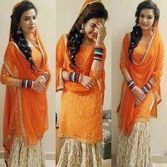 Kiran haq Designer Punjabi Suits, Girl Couple, Desi Wear, Elegant Bride, Pakistani Actress, Pakistani Dresses, Party Wear, Bridal Dresses, Shirt Designs