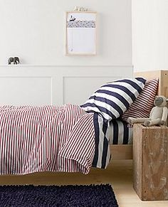 HannaSoft™ Swedish Stripe Duvet Cover by Hanna Andersson Bed Duvet Covers, Kid Spaces, New Kids, Room Inspiration, Kids Room, Throw Pillows, Hanna Andersson, Blanket, Bedroom