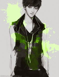 NEON by tknk on deviantART... Kind of reminds me of Tao from EXO! Found out that it is Tao!♥