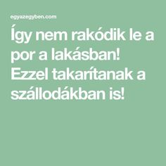Így nem rakódik le a por a lakásban! Ezzel takarítanak a szállodákban is! Cleaning Solutions, Cleaning Hacks, Easy Crafts, Diy And Crafts, Home Management, Natural Cleaning Products, Home Hacks, Home Organization, Clean House