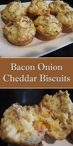 Cheddar Biscuits, Drop Biscuits, Breakfast Cake, Biscuit Recipe, Bread Recipes, Baked Goods, Onion, Good Food, Brunch