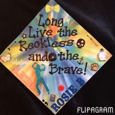 Graduation tomorrow!!!!! #graduation #sjcny #graduationcap #longlivetherecklessandthebrave #unique #sjcnygrad #sjcnycaps #alltimelow
