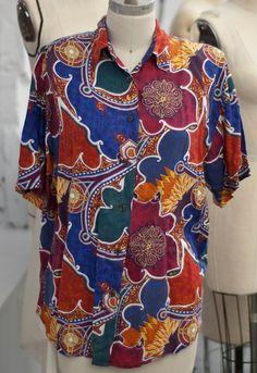 Vintage patterned shirt via Etsy
