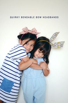 quirky bendable bow headband. click through for instructions.
