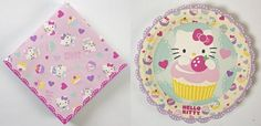 Hello Kitty Small Paper Plates and Napkins by Meri Meri Party Packs, Paper Plates, Party Supplies, Hello Kitty, Napkins, Toys, Dessert Plates, How To Make, Fun