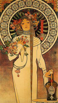 The Trappistine, 1897, Alphonse Mucha Size: 206x77 cm