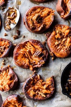 Crispy Roasted Sweet Potatoes with Bourbon Maple Butter - these little rounds are easy, have great texture & the most amazing flavor! @ halfbakedharvest.com