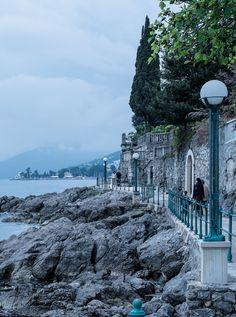Lungomare promenade at Opatija Riviera in Croatia