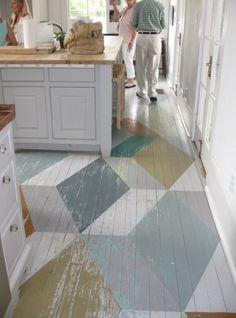 geometric floors.