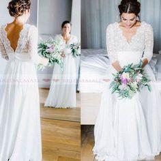 Sheath Wedding Gown, V Neck Wedding Dress, Classic Wedding Dress, Long Sleeve Wedding, Viking Wedding Dress, A Line Wedding Dress With Sleeves, Plus Wedding Dresses, Western Wedding Dresses, Bridal Dresses