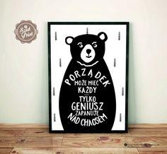 Original posters for your home ❤ autor SzastiPrast Word Sentences, Home Design Decor, Home Decor, Man Humor, Motto, Funny Tshirts, Quotations, Kids Room, Wall Art