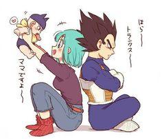 Bulma Y Trunks, Baby Trunks, Manga Anime, Dragon Ball Z Shirt, Dbz Vegeta, Father And Son, Anime Love, Anime Couples, Akira