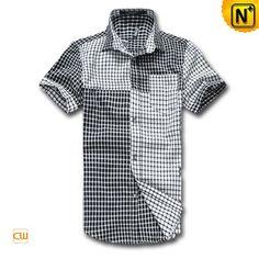 Men's Fashion Plaid Cotton Shirts Casual Shirts CW1230 $99.79 - www.cwmalls.com